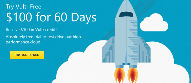 try vultr free $100 for 60 days