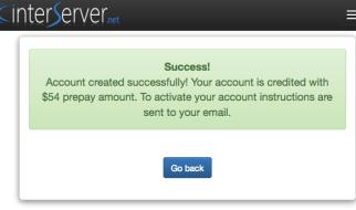 Web hosting gratis satu tahun interserver