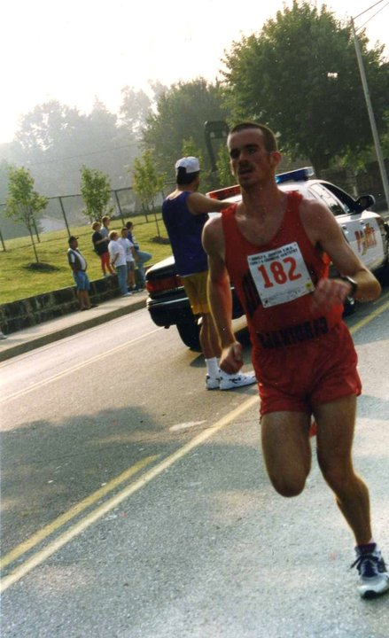 The author racing on Main Street in London, KY sometime during the late 90s.