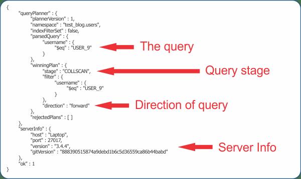 explain output