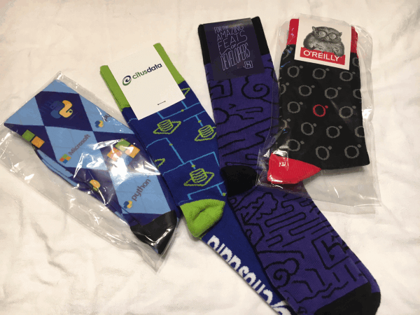 PyCon 2017 Vendor socks