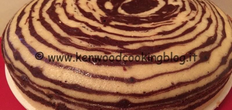Ricetta torta zebrata all'acqua senza burro e uova Kenwood