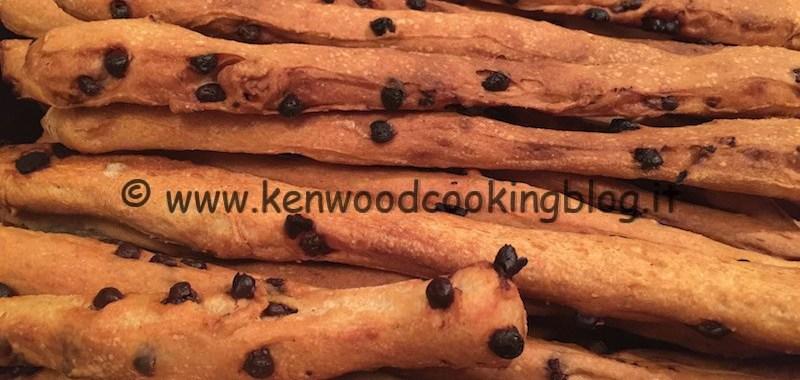 Ricetta grissini con gocce di cioccolato Kenwood