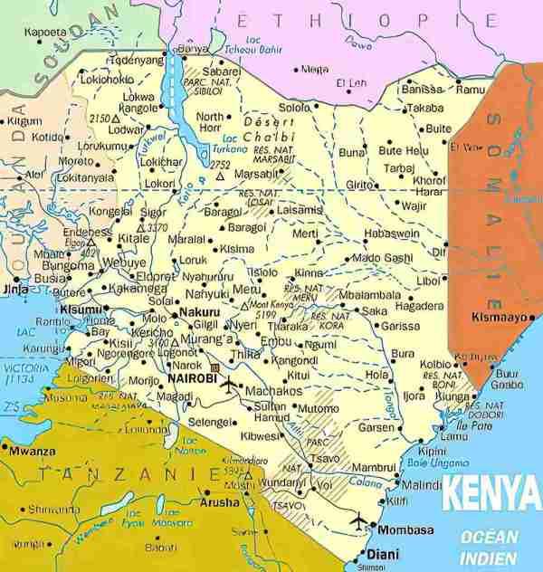 Cartes du Kenya