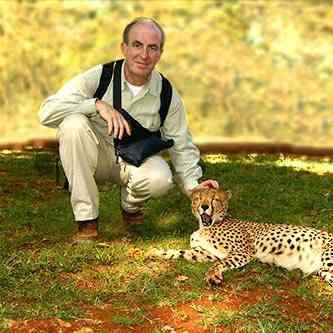 Ich streichle einen Geparden im Nairobi Park im Nairobi National Park - Kenia Parks und Reservate - Karte und Plan des Nairobi Parks in Kenia