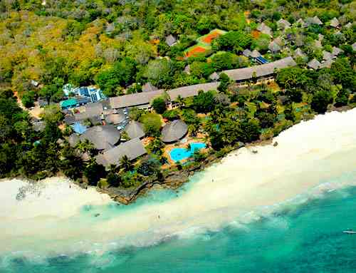 Vue aérienne de Diani Beach Kenya