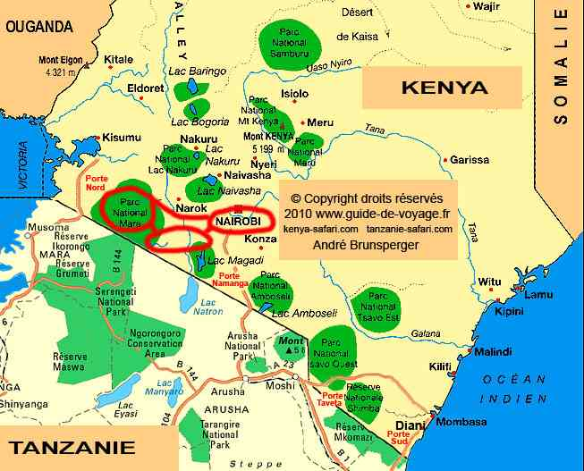 Trek safari à pieds Masaï Mara Kenya