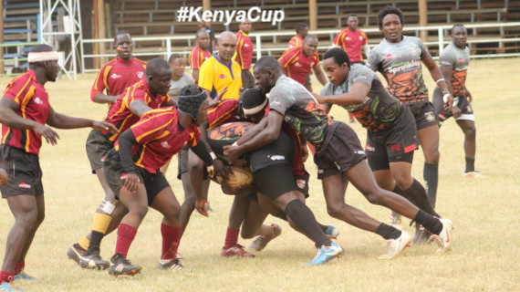 Mwamba and Blak Blad in a previous Kenya Cup encounter encounter at the Jamhuri Park/Photo/Brian Ayieko