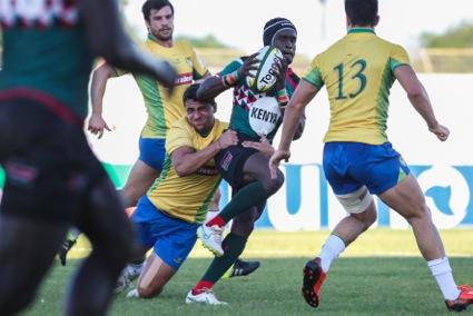 Simbas Rally To Edge Brazil