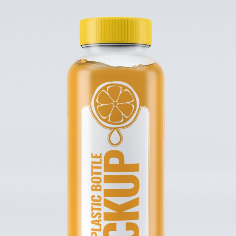 Smoothie Plastic Bottle Mock-Up