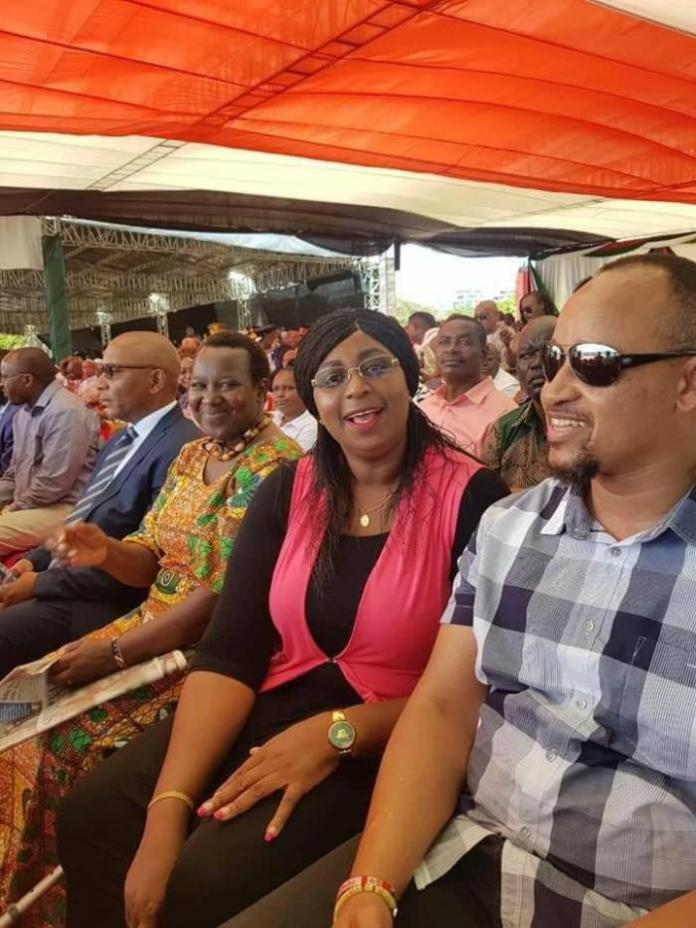Malindi M Aisha Jumwa seated on the sideline during the Mashujaa celebration on October 20