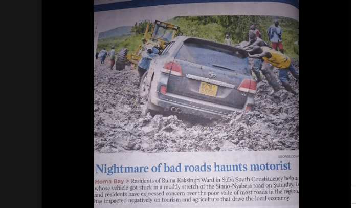 Hon. Mbadi spoiling the good name of ODM, poor infrastructure in Suba south