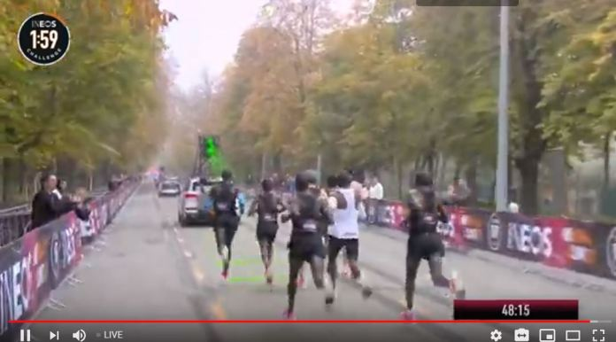 Watch Live ELIUD KIPCHOGE do 1:59 Challenge, Livestreaming from Austria