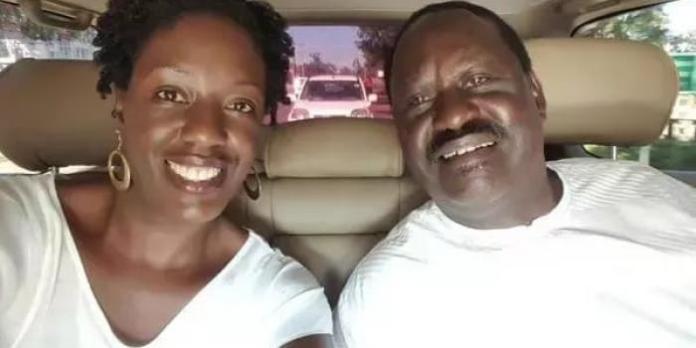 ODM leader Raila Odinga and his daughter Rosemary