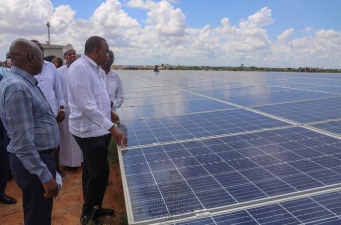 President Uhuru Kenyatta inaugurates 50MW GarissaSolar Power plant in Mbalambala, Garissa County on Friday, December 13, 2019
