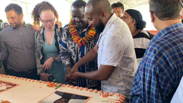 Raila Odinga atSahajanand Special School in Mtwapa, Kilifi County on Tuesday, January 14, 2020