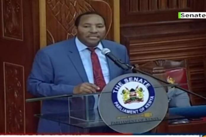 Kiambu Governor Ferdinand Waititu on the floor of the Senate on Wednesday, January 29