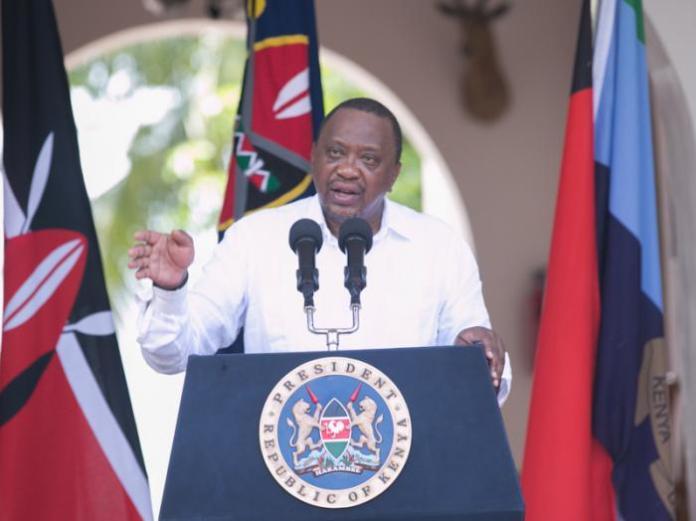 President Uhuru Kenyatta addressing the media from State House, Mombasa on January 14, 2020.