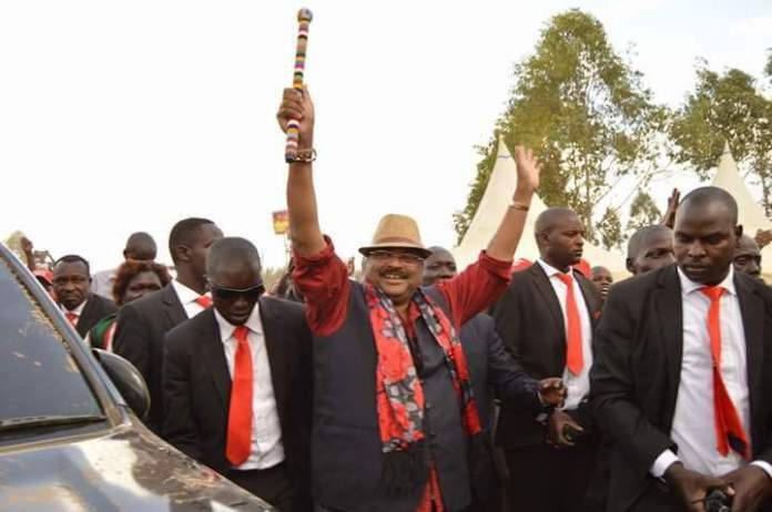 MP Mishra Kiprop celebrates his 2017 election win after clinching the Kesses seat.