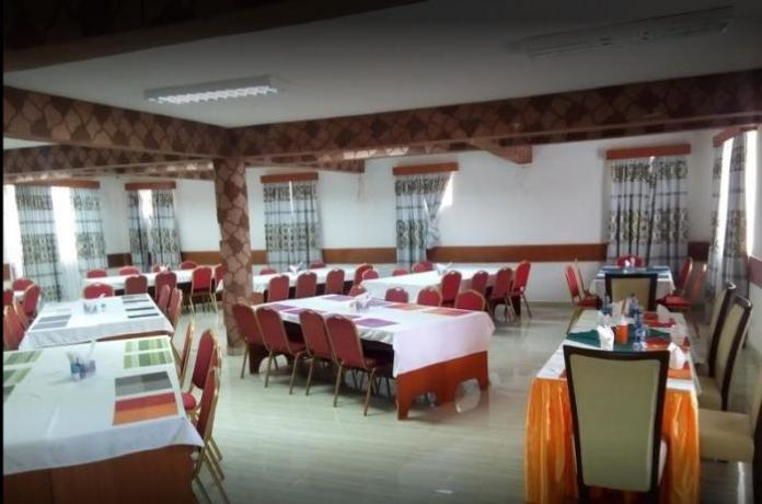 A dining room at Countryview Hotel, Embu County