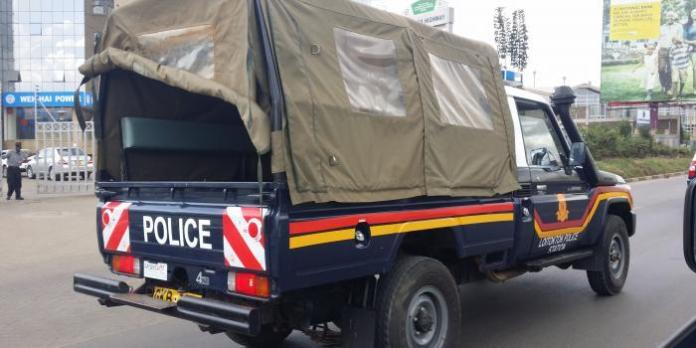 A police vehicle on patrol