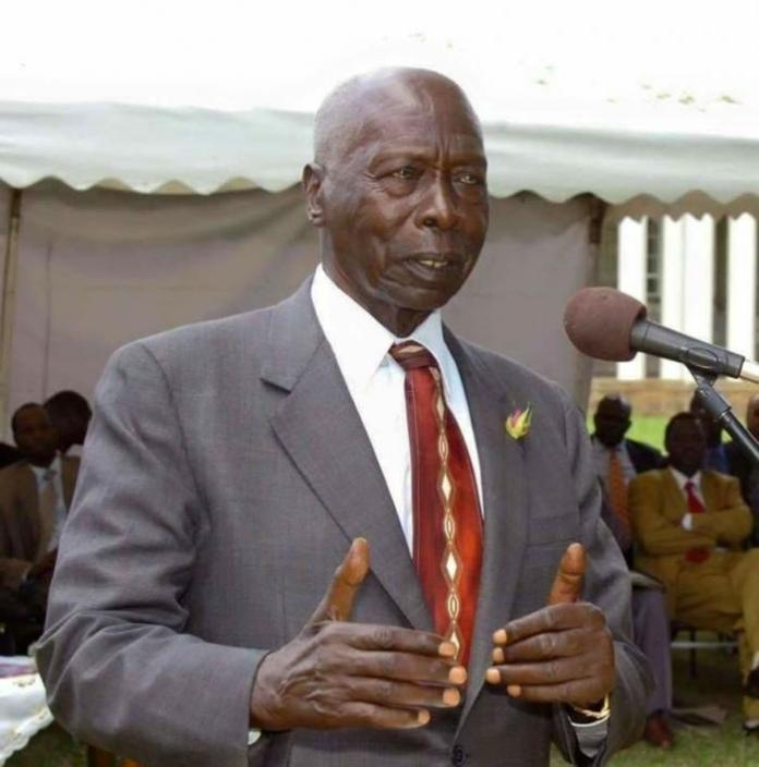 A past photo of former president Daniel Moi