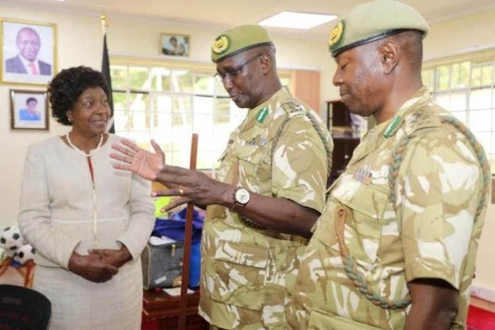 Kitui governor Charity Ngilu after a past meeting with KWS officials