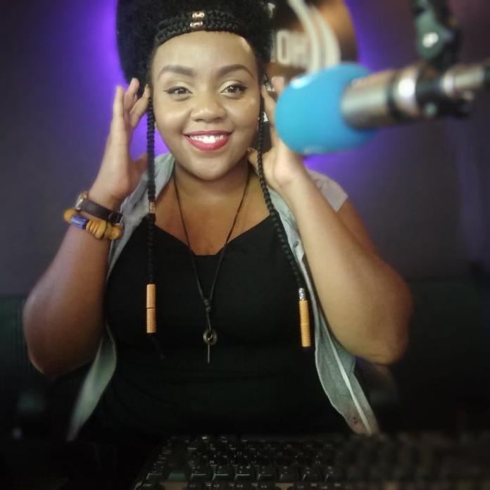 A past photo of Homeboyz Radio presenter Rachel Kiragu