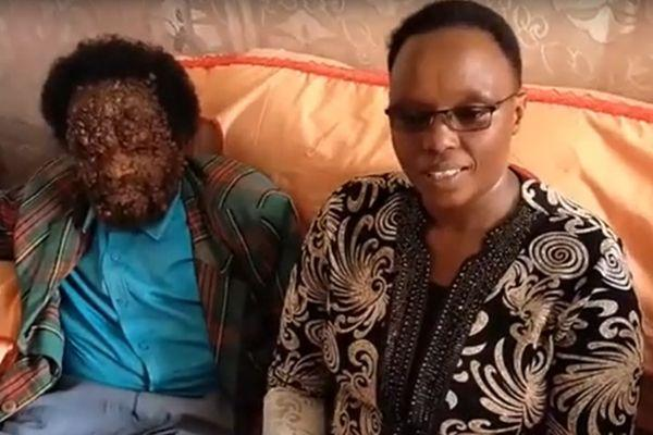 John Nderitu with his wife Emily Wanjiru at their Nyeri County home on Friday, February 28, 2020
