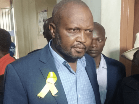 Gatundu South MP Moses Kuria arrives in court on January 13, 2020.