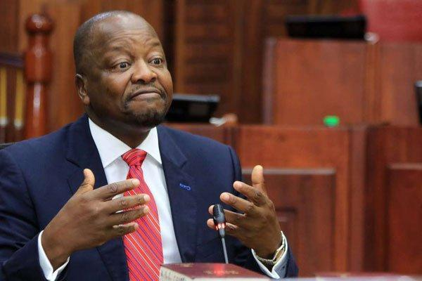 Health Cabinet Secretary nominee Mutahi Kagwe when he appeared for vetting before the National Assembly Committee on Appointments chaired by Speaker Justin Muturi on Thursday, February 20, 2020.