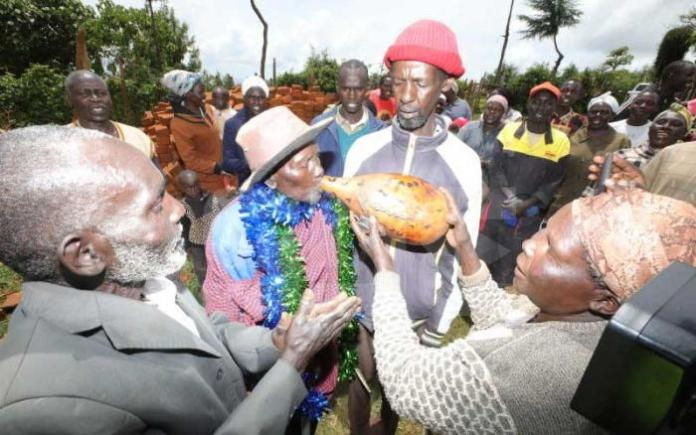 Joseph Chepkwony is received back home by family members and friends in Kasubwa village, Elgeyo Marakwet County.