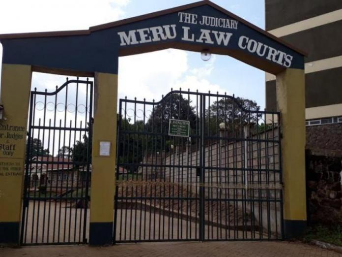 The entrance to the Meru Law Courts.