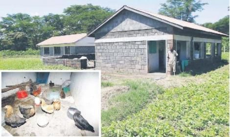 A photo collage of the Ksh 8.4 million health facility in Nakuru