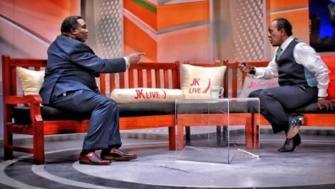 COTU Secretary-General Francis Atwoli with Citizen TV