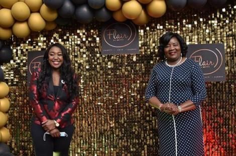 Media Personality Betty Kyallo and Ida Odinga during the launch of Flair With Betty on June 27, 2020.