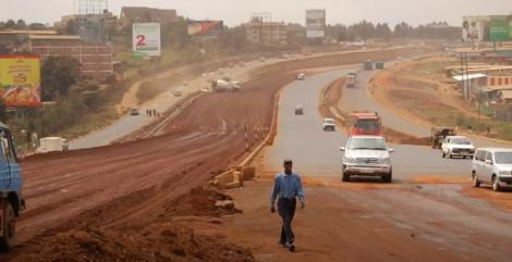 Thika Road under construction in 2012