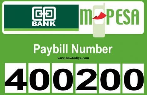 Co-op Bank M-Pesa pay bill