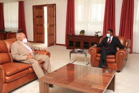 Machakos Governor Alfred Mutua with former Minister Joseph Munyao on August 14, 2020