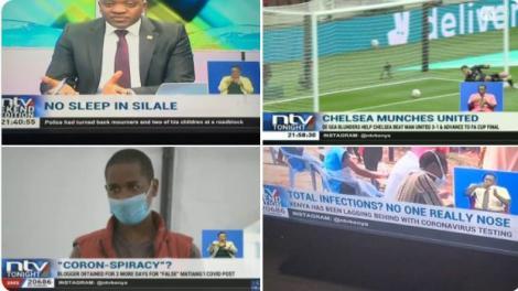 A screenshot of the NTV captions