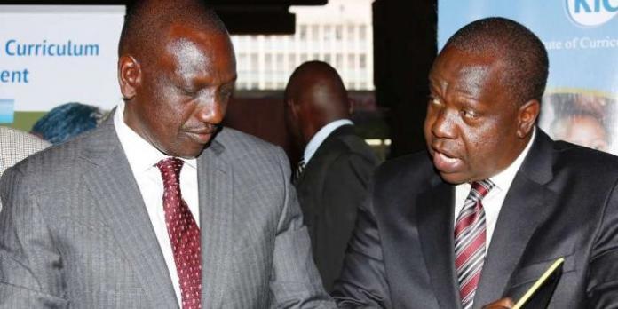 I did not call for DP Ruto's resignation- CS Matiangi jumps gun