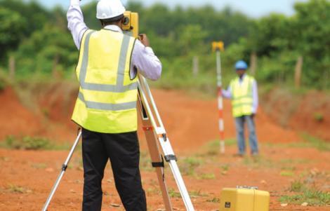 Land surveyors at work