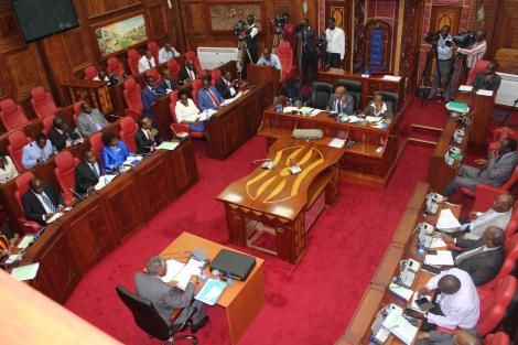 proceedings underway at the Senate during a past session
