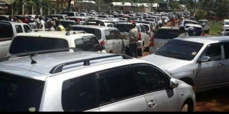 A photo of alleged traffic snarl in Eastleigh, Nairobi after a lockdown was imposed in the estate on Wednesday, May 6, 2020