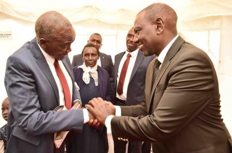 Deputy President William Ruto and the late Kenei
