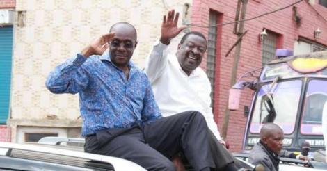 Political analyst Barrack Muluka and ANC Leader Musalia Mudavadi campaigning in 2017.