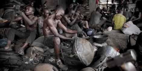 File image of Jua Kali artisans at work