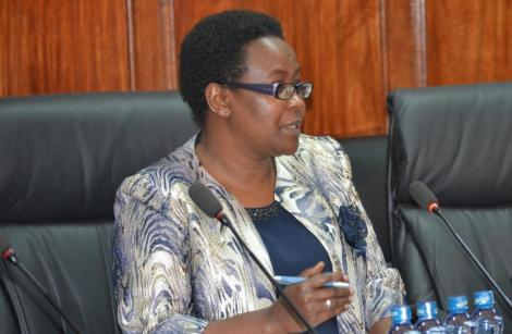 IPOA Chair Anne Makori during vetting by a Parliament committee in 2019.