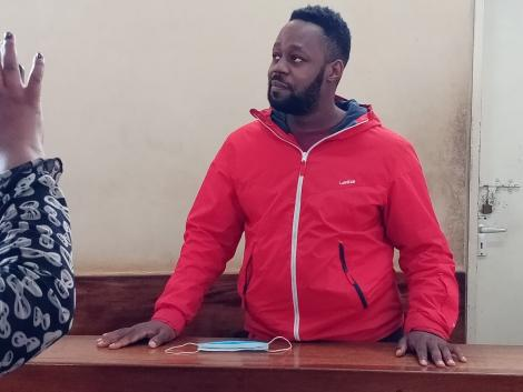 Blogger Edgar Obare at Kiambu Law Courts on Monday, August 3, 2020
