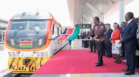 President Uhuru Kenyatta flags off SGR Phase 2A at the Nairobi Terminus on Wednesday, October 16, 2019